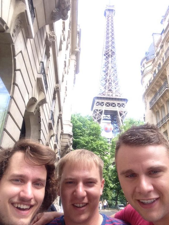 With my dear friends Mike and Blake in Paris, 2016. They visited, all the way from Iowa.