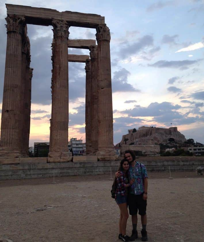 With my lovely girlfriend Jacki in Athens, Greece in 2016.